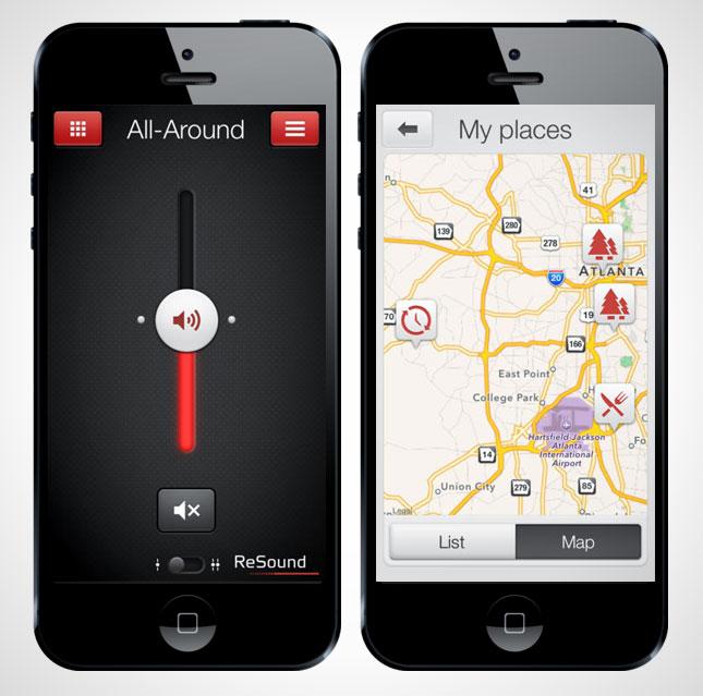 سمعک هوشمند میتواند بصورت وایرلس به GPS وصل شود.