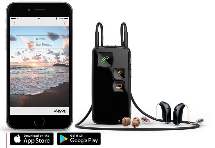 اتصال سمعک های هوشمند پایه به موبایل بوسیله ابزار جانبی واسطه صورت می پذیرد.